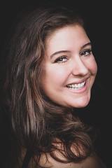 DSCF4995-3 (YouOnFoto) Tags: girl meisje woman vrouw eyes brown bruine ogen portret portrait closeup dichtbij hair smile