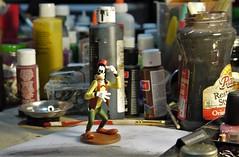 Now where did I put that paintbrush? (Twila1313) Tags: goofy disney toy paint brush paintbrush art crafts cartoon panasonicgf1