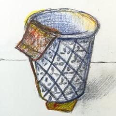 Thé (Ceha :-)) Tags: dessin croquis esquisse drawing sketch gobelet cup tea thé coloredpencils crayondecouleur