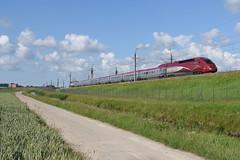 Thalys 4345 at Nieuw-Vennep, June 21, 2019 (cklx) Tags: nieuwvennep hsl hogesnelheidslijn thalys