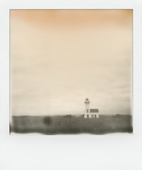 New London Range Rear Lighthouse (LowerDarnley) Tags: impossiblefilm instantfilm faded discolored polaroid pei princeedwardisland newlondon lighthouse atlanticcanada maritimes rangelight onestepflash 600film