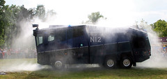 Riot control vehicle self protection (Schwanzus_Longus) Tags: delmenhorst german germany modern vehicle truck lorry riot control law enforcement police polizei mercedes benz actros