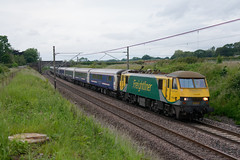 90049 1M16 Acton Bridge (cmc_1987) Tags: 90049 1m16 class90 skoda powerhaul freightliner br brel geneseewyoming highlander actonbridge wcml cheshire intermodal railfreight