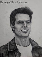 Tom Cruise Drawing | Sketching | Karakalem (hediyelikkarakalem) Tags: charcoal charcoaldrawing drawings draw image pictures illustration graphics paintings sketching pencildrawing art myart graphic creative portrait abstractart life love realism cool awesome beautiful sketchbook artist lifestyle europe usa design birthday