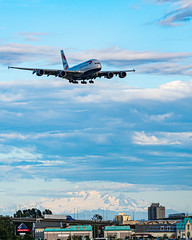 A380 Descending From the Clouds to Land at YVR In Front of Mt. Baker (AvgeekJoe) Tags: 100400mmf563 a380 a380841 a388 airbus airbusa380 airbusa380841 airbust britishairways britishcolumbia canada clouds d7500 dslr gxleh importedkeywordtags msn163 mountbaker mtbaker nikon nikond7500 richmond sigma sigma100400mmf563 sigma100400mmf563dgoshsmcontemporary aircraft airplane aviation jetliner mountain plane telephotolens volcano