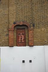 21st June 2019 (themostinept) Tags: kingscross london wall brickwall paint shapes lettering letters insignia lorenzostreet wc1 clerkenwell islington d a