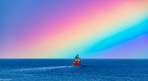 Grampian Corsair Sailing into Tonights Rainbow off Aberdeen ..