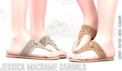 REIGN.- JESSICA MACRAME SANDALS (REIGN♥) Tags: reign teamreign legacy secondlife shoes slink summer slevent sl n°21 n21 belleza body maitreya mesh
