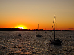 photo - Sunset, New Harbor, Block Island (Jassy-50) Tags: photo newharbor blockisland rhodeisland sunset sun boat sailboat harbor