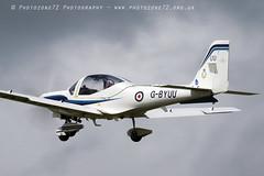 0872 Tutor Takeoff (photozone72) Tags: raf tutordisplay grobtutor tutor wingswheels dunsfold dunsfoldpark aviation aircraft airshows airshow canon canon7dmk2 canon100400f4556lii 7dmk2
