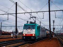 LINΞΛS 2842 met hupac trein @ Hasselt (Avinash Chotkan) Tags: lineas cobra hle28 hupac trains cargo belgium bombardier bertschiag 2842