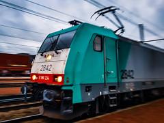 LINΞΛS 2842 (close-up) met hupac trein @ Hasselt (Avinash Chotkan) Tags: lineas bombardier traxx hle28 cobra hupac trains belgium cargo closeup