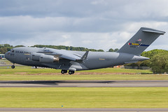 90-0532 C-17A Globemaster III USAF Prestwick 21.06.19 (Robert Banks 1) Tags: 900532 00532 boeing mcdonnell douglas c17 c17a globemaster iii usaf united states air force rch prestwick egpk pik 145 aw wing charlotte ang national guard