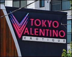 TOKYO VALENTINO Store Sign   Cheshire Bridge Road   Atlanta, Georgia (steveartist) Tags: signs businesssigns identificationsigns tokyovalentino atlantaga sexshop pornoshop upscaleerotica photostevefrenkel snapseed sonydscwx220