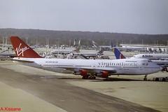 VIRGIN B747 G-VJFK (Adrian.Kissane) Tags: aviation ground gatwick london ramp airport jumbojet 747 boeing aircraft aeroplane plane 20842 1999 gvjfk b747 lgw virgin