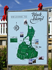 photo - Welcome to Block Island (Jassy-50) Tags: blockisland island rhodeisland photo map sign oldharbor