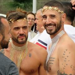 pride sitges 2019 (gerben more) Tags: gay gaypride hairychest handsomeman smiling smile sitges spain people portret portrait festival parade