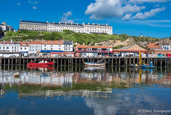 The Whitby Reflection (daveseargeant) Tags: trawlers boats coast harbour sea seaside beach sky sun clouds fishing quayside leica x typ 113 reflection whitby north yorkshire
