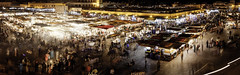 Marrakech, مراكش - Maroc 2013 (© Laurent Sicard Photographie) Tags: panorama panoramic panoramique pano panning morocco maroc canon travel voyage night nuit street