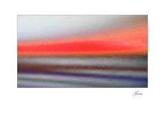Beach Sunset (jesse1dog) Tags: beach sea sunset orange blue gm1 pentaxauto110 70mm bokah vintageprime abstract illusion