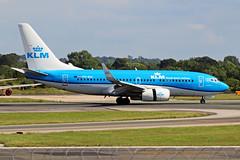 PH-BGI 2 Boeing 737-7K2W KLM Royal Dutch Airlines MAN 21JUN19 (Ken Fielding) Tags: phbgi boeing b7377k2w klm royaldutchairlines aircraft airplane airliner jet jetliner aviation