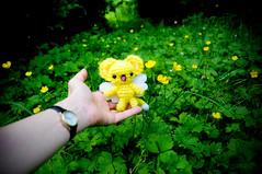 kero amigurumi (sugarelf) Tags: characterplush amigurumi crochet madebyme sugarelf toyplush handmade buttercups nature june anime cardcaptorsakura