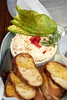 Serving of Salmon Dip With Avocado and Toasted Baguette (Malisa Nicolau) Tags: appetizer food culinary cuisine gourmet avocado fruit vegetables salmon salmondip savory salty creamy redpepper bowl toast spread mayonnaise share background dill herbs crostini buttery crispy crunchy plated restaurant table baguette frenchbread sliced texture delicious gettogether chunky