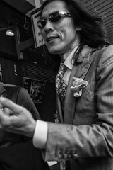 dandy (Claudia Merighi) Tags: dandy streetphotography street streetphoto fotografiadistrada whiteblack ricoh ritrattodistrada streetportrait claudiamerighi blackandwhiteonly biancoenero bnbwbwbiancoenero people man hair