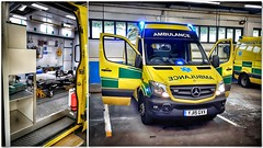 My 'Longest Day' office today! (Mike-Lee) Tags: mercedes merc longestday collage office picasa shift yas middlewoodambulancestation june2019 tailliftversion sheffield yorkshire ambulance mercedesbenz paramedic ambulanceservice