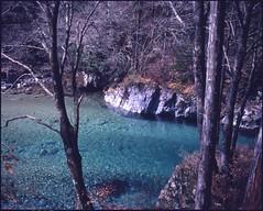 (✞bens▲n) Tags: mamiya 7ii kodak e64d 80mm f4 film 6x7 japan nagano kiso atera keikoku water nature