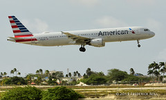 American Airlines A321 ~ N150UW (© Freddie) Tags: aruba airbus americanairlines aa aua oranjestad renaissanceisland tnca n150uw fjroll tncaaua ©freddie a321