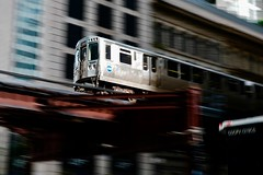 CTA in the Loop (dangaken) Tags: transit train chicagotransitauthority subway l el ltrain eltrain elevatedtrain publictransportation publictransit chi chicagoil illinois il chicago chitown usa midwest chicagoland june 2019 pan panshot speed motion
