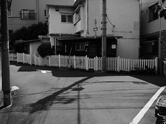 mid-day shadow (peaceblaster9) Tags: street shadows lights kitashinjuku tokyo ストリート 影 光 北新宿 東京 blackandwhite bnw bw blackwhite monochrome モノクローム 白黒 residential 住宅街