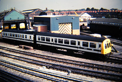 Mero Cammel DMU M56348 at Chester shed. (johnpaddy22) Tags: dmu chester metro cammel white br depot shed 2car