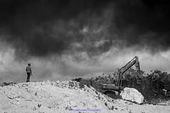 Too Close For Comfort (Nicky Highlander Photography) Tags: barbados westindies caribbean saintthomas mangrove pond landfill dump smoke plume fire wind morning landscape blackandwhite barbadosphotographicsociety monochrome fieldtrip dark photoessay photojournalism quickshot mini series