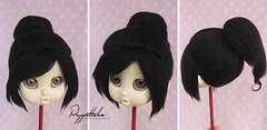 Wig Vanellope (Wreck it Ralph) (Puppet Tales Dolls) Tags: ooak wig dollwig bru islanddoll bjd balljointeddoll bjdwig yarnwig furwig
