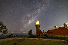 Milky Way over Barrenjoey Lighthouse (Luke Vadekar) Tags: milkyway barrenjoey lighthouse astrophotography stars night photography galaxy palmbeach