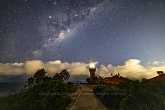 Milky Way over Barrenjoey Lighthouse (Luke Vadekar) Tags: stars mlkyway barrenjoey lighthouse palmbeach astrophotography night photography