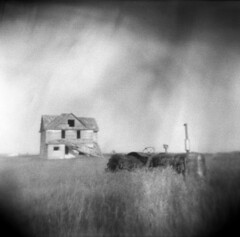 Rural Collapse (Comtesse DeSpair) Tags: efke ir820 abandoned farmhouse diafine holga 120n
