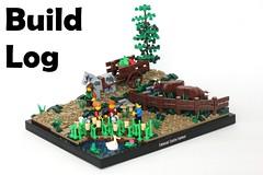Loads of Apples: Build Log (-soccerkid6) Tags: lego moc creation buildlog brickbuilt commentary behind scenes process model landscape castle medieval setting scene path farm
