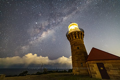 Milky Way over Barrenjoey Lighthouse (Luke Vadekar) Tags: stars milkyway barrenjoey lighthouse palmbeach astrophotography night galaxy photography