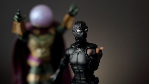 Mysterio and Spider-Man.