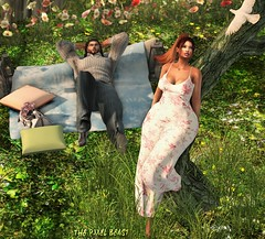 Haven (Pixel Beast) Tags: secondlife maitreya lara belleza isis venus physique hourglass ebody curvy second life blog blogger style lifestyle fashion fashionista fashionblog stylist sexy cute pretty woman girl pixel pixelbeast thepixelbeast thesims thepixelbeastcom thigh imvu outfit bar carribean tropical post card old photo dress forest picnic dove heaven juniper tree angel
