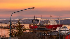 Sunset in Ushuaia Port - Argentina - 03200 (Jorge A Miguel) Tags: ushuaia provinciadetierradelfuego argentina