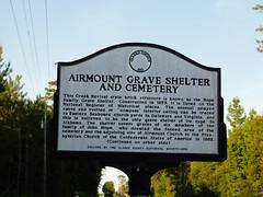 Airmount Grave Shelter Historic Marker (jimmywayne) Tags: clarkecounty alabama nrhp nationalregister airmount graveshelter historic rural marker
