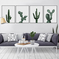 Nordic Watercolor Green Cactus Plant Poster Print A4 Hipster Floral Wall Art Picture Scandinavian Home Decoration Minimalist Canvas Painting by TheMildArt (Mild Art) Tags: art poster print painting canvas frame design original mild home decoration wall etsy shop for themildart