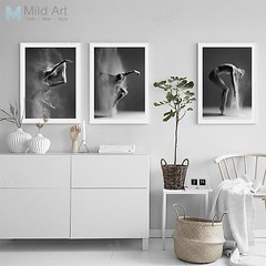 Black and White Elegant Ballet Dance Poster Print Photo Nordic Style Girl Portrait Wall Art Pictures Scandinavian Home Decor Canvas Painting by TheMildArt (Mild Art) Tags: art poster print painting canvas frame design original mild home decoration wall etsy shop for themildart