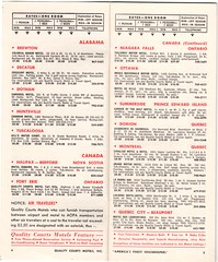 1965 Quality Courts Motels Directory / Map Scan (Nicholas Eckhart) Tags: scan map quality inn qualitycourts motels chain directory locations list
