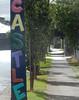 Castle St (mikecogh) Tags: kilkenny streetname painted stobiepole streetart publicart telegraphpole footpath pavement
