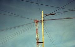 Cables (mavricich) Tags: calle color cielo colores compacta ciudad ricoh rangefinder lomography latinoamérica lomo sky azul nubes cloud film película analógico analogic analogico